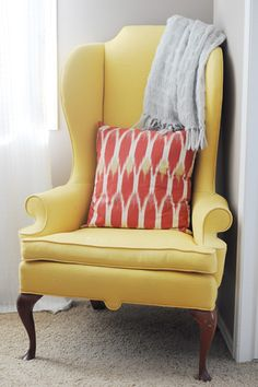 Exceptionnel Fabolous Yellow Wingback Chair Design Ideas | Rilane   We Aspire To Inspire