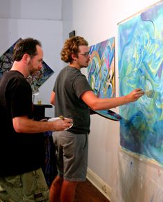 Steve and Andrew - two of the artists behind Dwell Collective #art