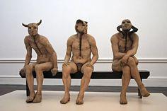 Jane Alexander - Butcher Boys - Sculpture using plaster, bone, horn, oil paint, wood. South African Holidays, South African Art, African American Artist, American Artists, Alternative Artists, Hr Giger, Land Art, New Artists, New Music