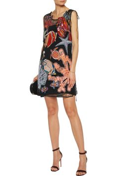 Shop on-sale Emilio Pucci Embroidered net and crepe mini dress. Browse other discount designer Dresses & more on The Most Fashionable Fashion Outlet, THE OUTNET.COM