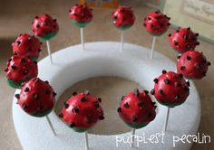 watermelon cake pops...for a baby shower coming up