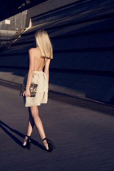 Backless dresses.