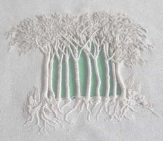 The embroidery of Francine Leclercq - gorgeous! You can find more here: http://www.aufilduleman.fr/galeriearbre.html: