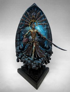 The Internet's largest gallery of painted miniatures, with a large repository of how-to articles on miniature painting Eldar 40k, Warhammer Eldar, Warhammer 40k Figures, Warhammer Paint, Dark Eldar, Warhammer 40k Miniatures, Warhammer Fantasy, Fantasy Paintings, Mini Paintings