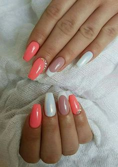 Awesome 35 Classy Wedding Nail Art Ideas You Must Try Nail Art Ombre Nail Designs, Colorful Nail Designs, Beautiful Nail Designs, Polygel Nails, Nude Nails, Hair And Nails, Gorgeous Nails, Pretty Nails, Neutral Nail Art