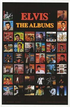 Elvis Albums.- I have this framed in my Elvis room!!