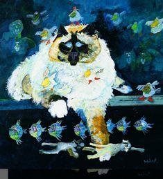 Pretty Cats, Pretty Kitty, Watercolor Cat, Whimsical Art, Cat Love, Love Art, Cat Art, Online Art, Cats And Kittens