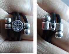 manualidades caseras faciles  anillos en cuero y zamak