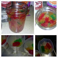 My Drunk Gummie Bears! Gummie Bears soaked in Vodka Alcoholic Beverages, Cocktails, Vodka Mixes, Gummi Bears, Faster Horses, Mix Drinks, Jello Shots, Summer Drinks, Party Party