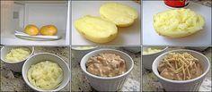 PANELATERAPIA - Blog de Culinária, Gastronomia e Receitas: Batata Recheada no Potinho