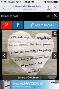 Wooden Plank Heart