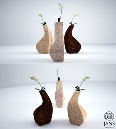 JANS Cork Collection : Designer Vases for your Small Plants