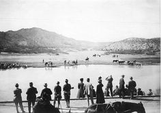 TEXAS~El Paso, Texas 1911 The local gentry would gather along the Rio Grande near UTEP and watch the activities of Pancho Villa and his men. Pancho Villa, Latin American Studies, American History, World Conflicts, South Of The Border, Sun City, Texas History, Interesting History, Photo Essay