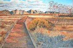 Ash Meadows Nevada. Watercolor on Arches 300lb rough.