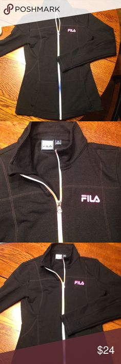 Fila rainbow zip nylon jacket size XS This super cute nylon jacket is perfect for after yoga or with weekend jeans! Fila Jackets & Coats