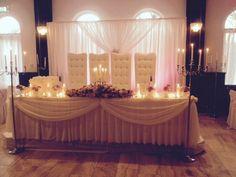 Tafelstuk op de bruids tafel