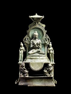 Enthroned Buddha Vairocana, late 8th–9th century. Southern Thailand. Lent by National Museum, Bangkok, donated by Khun Phoomopayakkhet in 1927   Lent by National Museum, Bangkok, donated by Khun Phoomopayakkhet in 1927. #LostKingdoms