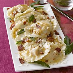 Butternut Squash Ravioli with Sage Recipe - really want to try this - without the pancetta of course lol