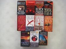"""This was the closest I could get to having all of Greg Iles' books in one picture.  I especially like the Penn Cage series, which includes """"The Quiet Game,"""" """"Turning Angel,"""" """"The Devil's Punchbowl,"""" """"The Death Factory"""" and """"Natchez Burning.""""  His writing is graphic and flowing and his stories are involved and usually have historical content related to Natchez, MS.  I usually can't put them down because, if nothing else, I will end up trying to sleep while still thinking about the story!"""
