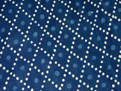 Indigo Blue Vegetable dyed Hand Block Printed Cotton / Soft Cotton Fabric- Indigo Cotton Fabric - wooden block print fabric sold by Yard
