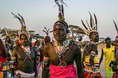Traditional samburu marriage ceremony dance.,Olturot,Marsabit,Northern Kenya.