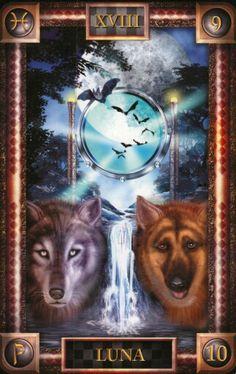 XVIII. The Moon - Tarot of Dreams by Ciro Marchetti, Lee Bursten