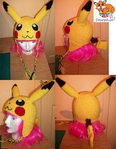 Pikachu crochet beanie by ~Sasophie on deviantART
