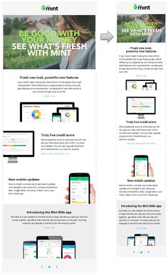 Mint responsive email design