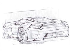 Porsche sketch by Federico Acuto, via Behance