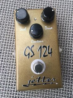 Jetter GS 124  Gold - Dumble Sound Overdrive Pedal (custom run for Wildwood Guitars)