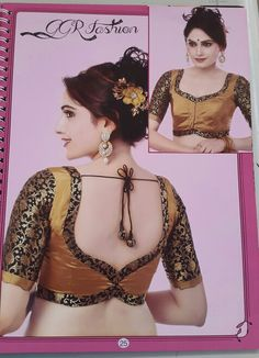 More                                                                                                                                                                                 More Simple Blouse Designs, Saree Blouse Neck Designs, Choli Designs, Dress Neck Designs, Designer Blouse Patterns, Blouse Models, Blouse Styles, Concrete Crafts, Lehenga Blouse