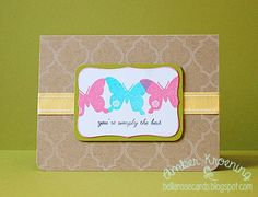 Uniko Studio Bright Butterflies by AmberAKAmom - Cards and Paper Crafts at Splitcoaststampers