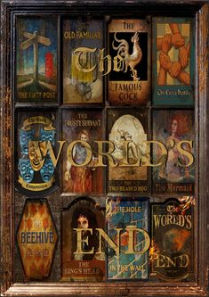 The World's End. 2013. Love the pub sign images.