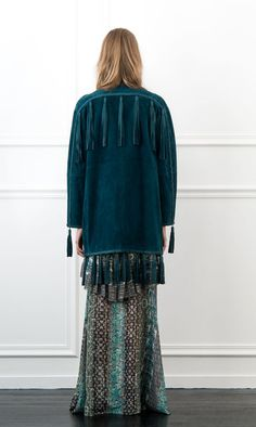 Rachel Zoe Holden Tasseled Leather Coat
