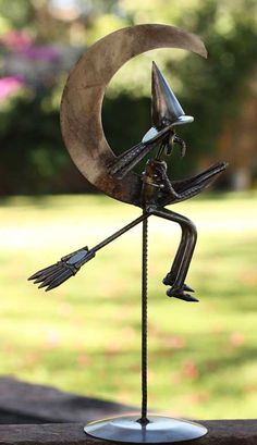 Nahncrafted Recycled Metal Halloween #Sculpture