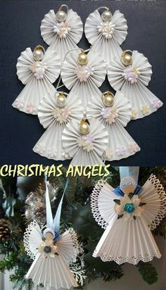 1 million+ Stunning Free Images to Use Anywhere Diy Crafts For Girls, Christmas Crafts For Kids To Make, Handmade Christmas Decorations, Christmas Ornament Crafts, Christmas Angels, Christmas Art, Christmas Projects, Holiday Crafts, Christmas Poinsettia