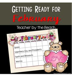 Teacher by the Beach: Getting Ready for February in 1st Grade - Themes and Freebies