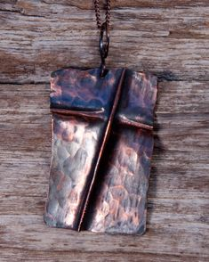 Copper Hammer Folded Cross