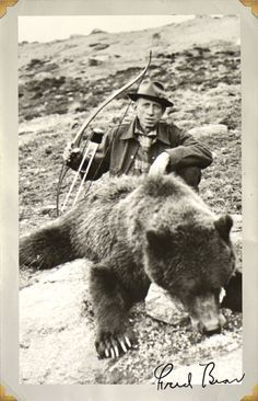 The man, the legend Fred Bear.  Kodiak | Bear Archery