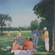 Herman Braun-Vega, Le Déjeuner in Central Park (Manet), 1999 (after manet / le déjeuner sur l'herbe)