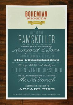 simple typographic poster