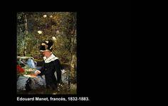 """Edouard Manet (1832-1883)  Nació en París, Francia. Marcó una influencia importante en la pintura moderna del siglo 20 y posterior.  """"Muchacha Belleveu"""""""