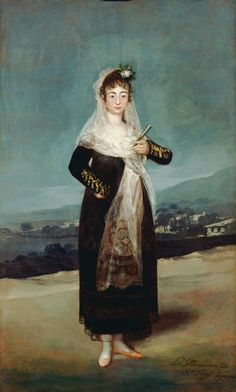 1804 Marquesa de Santiago by Francisco José de Goya y Lucientes (Getty Museum - Los Angeles, California USA) | Grand Ladies | gogm