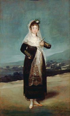 1804 Marquesa de Santiago by Francisco José de Goya y Lucientes (Getty Museum - Los Angeles, California USA) | Grand Ladies | gogm