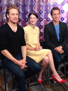 Sam Heughan Caitriona Balfe and Tobias Menzies - Outlander #SDCC14