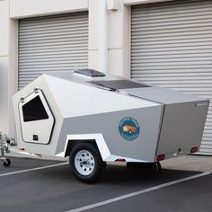Cricket Trailer, Tent Set Up, Tiny Camper, Mobile Living, Small Sink, Portable Toilet, Rugged Look, The Great Escape, Teardrop Trailer