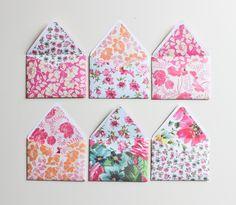 Handmade envelopes, via A Fabulous Fete blog