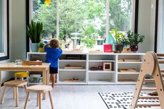 A catalogue of shelves for your Montessori home. If you are getting started with Montessori, these are great options to consider to prepare a space. Play Spaces, Learning Spaces, Kid Spaces, Cube Shelves, Ikea Shelves, Shelving, School Room Organization, Montessori Toddler, Room Inspiration