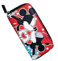 Mickey Kisses Minnie Collection Wallet- They're America's Sweethearts! Zippered wallet features Minnie & Mickey taking a kiss.  Regularly $14,99, buy Avon Fashion online at http://eseagren.avonrepresentative.com