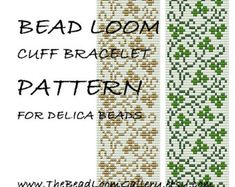 Bead Loom Cuff Bracelet Pattern Vol.35 The April Sweet Pea